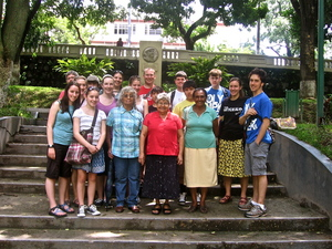 St Patricks Delegation_Parque Cuscatlan with Madre Guadalupe y CODEFAM July 2011